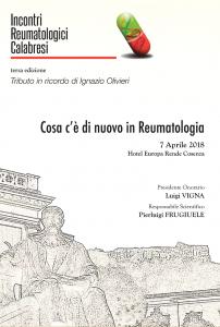 Reumatologia, il 7 aprile convengo Incontri Reumatologici Calabresi