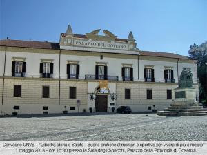 """""""Cibo tra storia e salute"""", Convegno UNVS l'11 maggio a Cosenza"""