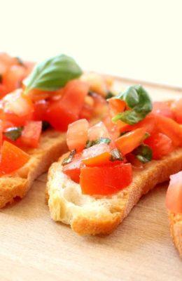 Pane, olio e pomodoro