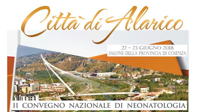 """22 e 23 giugno 2018, il II Convegno Nazionale di Neonatologia """"Città di Alarico"""""""