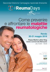 Reumadays 2019, la sesta tappa a Rende il 20 e 21 maggio