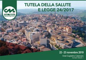 Tutela della salute e legge 24/2017, convegno a Catanzaro il 22 e 23 novembre