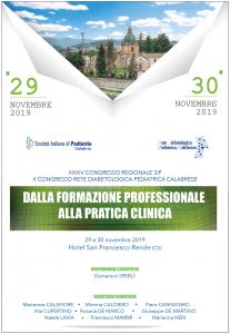 XXXIV Congresso Regionale SIP: dalla formazione professionale alla pratica clinica